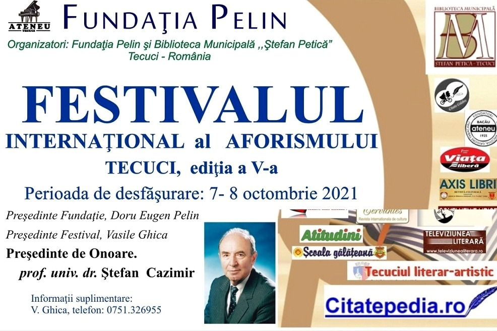Festivalul Internaţional al Aforismului Tecuci 2021